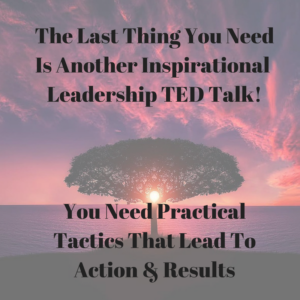 The Last Thing You Need Is Another Leadership TED Talk: 3 Tactics That Leads To Action & Results
