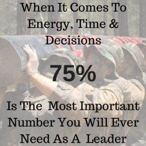 Read more about the article Why 75 Is The Single Most Important Number You Will Ever Need To Lead
